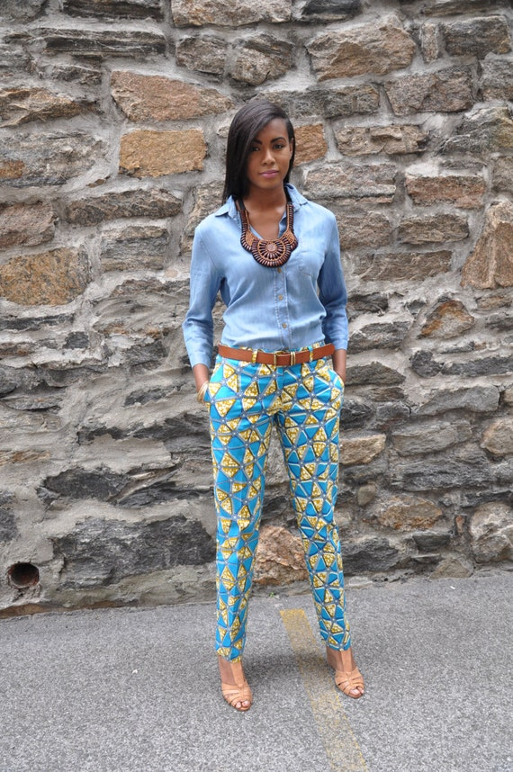 African Print Pants The Maddie Trouser
