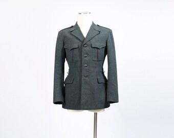 vintage WOOL MILITARY jacket Blazer Coat S M 40 chest army 60s 70s vietnam