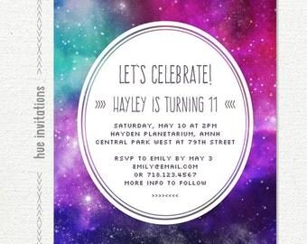 Nebula invitation Etsy