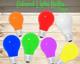 light bulbs clipart commercial use 300 dpi png colored lights bulbs - Colored Light Bulbs