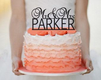 Mr&Mrs Wedding Cake topper