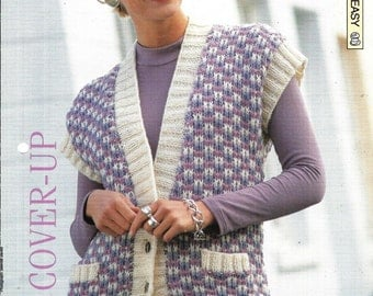 """Knitting pattern - Woman's """"Chic Cover-Up"""" body warmer - Instant download"""