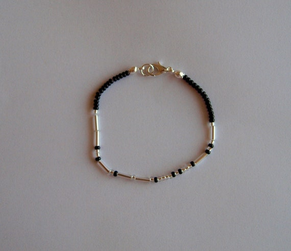 winchester morse code bracelet black and by ameliamorse on