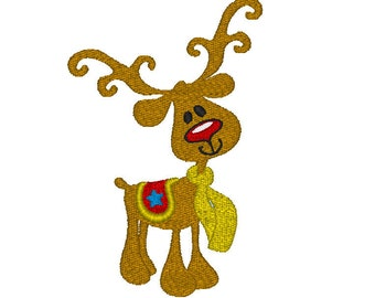 Embroidery Design, Rudolph the red nosed reindeer   #324