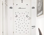 Aaron the Charming Dragon Door decal / Wall decal for doors, windows or closets / Nursery decor / Dragon Vinyl Sticker / Dinosaur