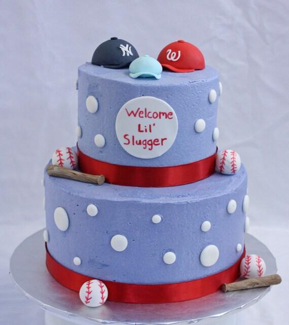 baseball cake decorations perfect for baby showers birthdays etc