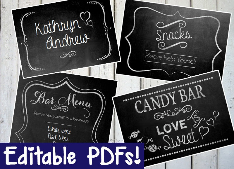 Resource image with printable chalkboard signs