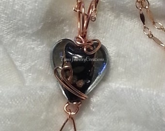 Heart Wire Wrapped Necklace