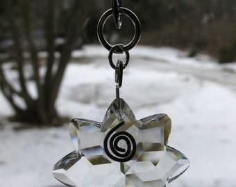 Steel Garden Art Beaded Suncatcher Crystal Sun Prism