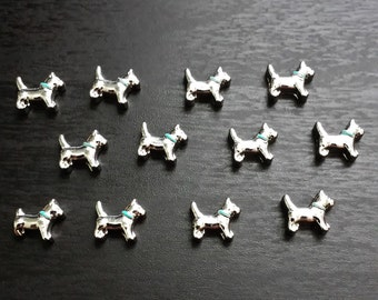 Male Dog Floating Charm for Floating Lockets-