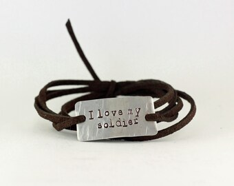 i love my soldier bracelet, soldier jewelry, soldier wife jewery, military wife, military girlfriend, deployment jewelry, military jewelry