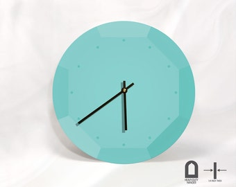 "Contemporary Wall Clock- Unique and minimalist  Wall clock - 11"" and 16"" Diameter"