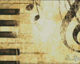 """Cross stitch pattern PDF """"Music"""""""