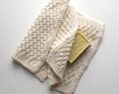 Large Organic Cotton Washcloths, Two Knit Wash Cloths, Dish Cloths