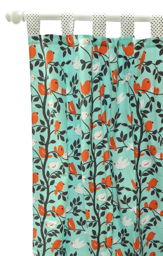 Aqua And Orange Curtains