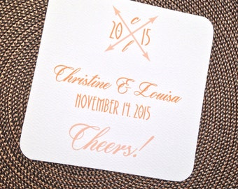 Personalized Rounded Corner Coasters - Place Cards