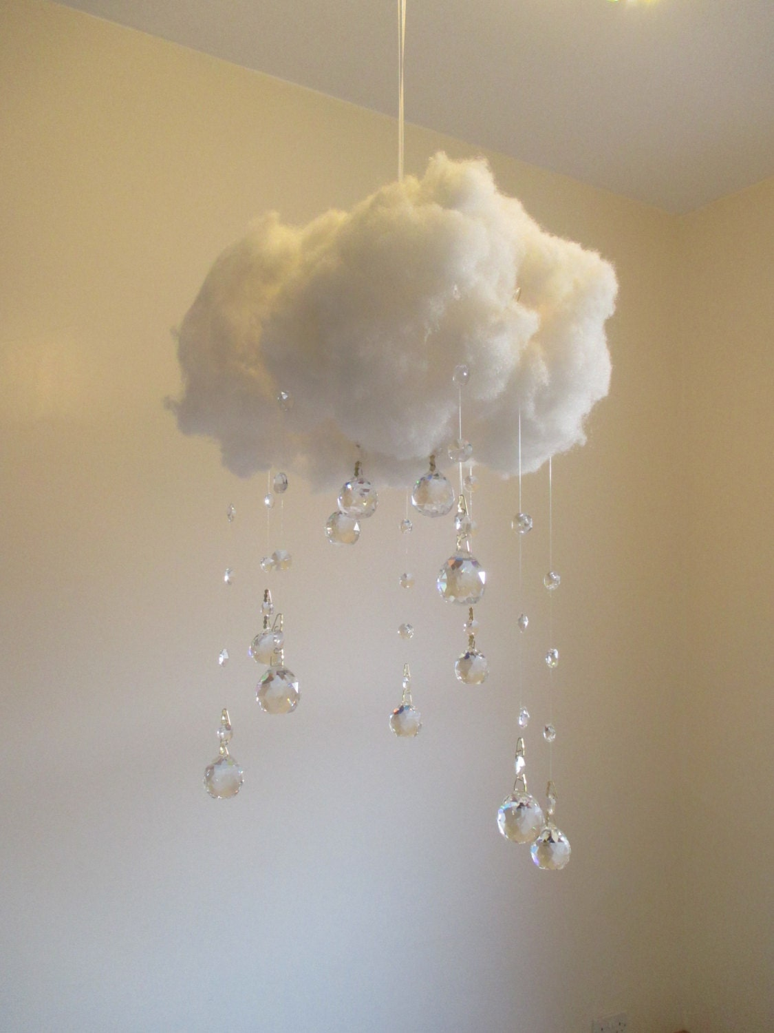 Large Unique Lighting Crystal Cloud By Tavassolidesigns On