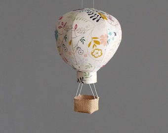 Single Hot Air Balloon Decoration - Nursery, Wedding and Baby Shower Decor - Travel and Explore Themed -  Wildflower