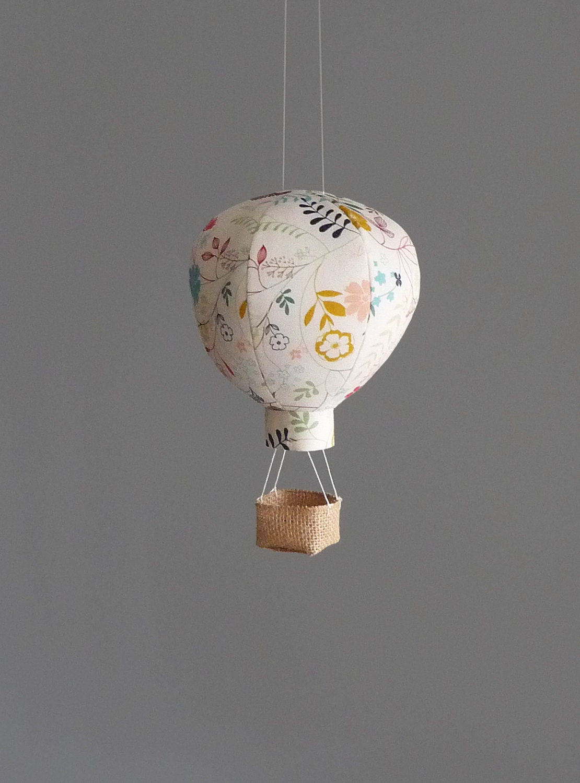 Single hot air balloon decoration nursery wedding and baby for Air balloon decoration