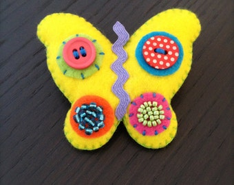 Butterfly Brooch.100% handmade with love.Cute accessories for little girls.Birthday gifts.Butterflies lovers