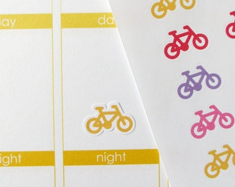 55 Bicycle Stickers for Erin Condren Planner, Filofax, Plum Paper