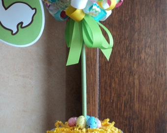 Easter Topiary Centerpiece. Easter decoration. Handmade decoration for Easter.