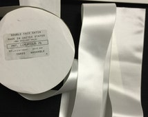 10 Yards of White Double Face Satin, Made in the United State, Brilliant Nylon Washable.