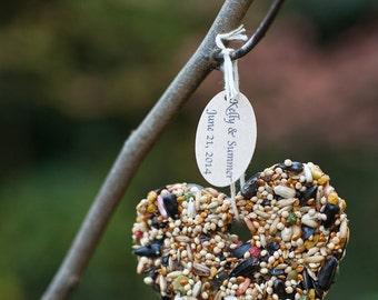 25 Rustic Birdseed Wedding Favors (Medium Size): Bird Seed Heart Feeder Hearts Love Birds Tags Available Lovebird Wedding Love Bird Wedding