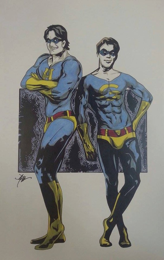 11x17 The AMBIGUOUSLY GAY DUO Exclusive By ArtOfJamieSullivan