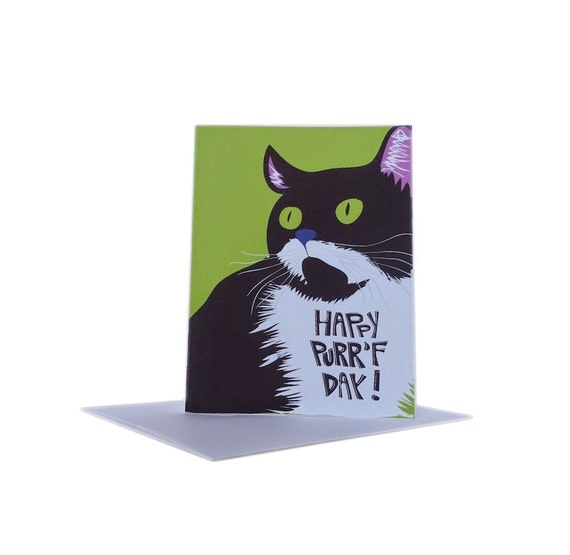 Gratifying image with regard to cat birthday card printable