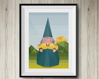 Lisa the Gnome polygonal art