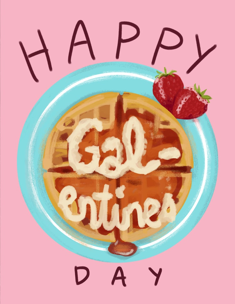 Happy Galentines Day by GiantTalk on Etsy