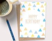 Triangles happy birthday card