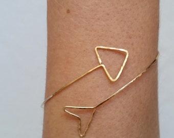 Arrow Bangle, Arrow Cuff, Gold Arrow Bracelet, Arrow Bracelets, Gold Arrow Jewelry, Gold Arrow Jewelry, Silver Arrow Bracelet, Arrow Cuffs