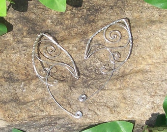Elf Ear Cuffs - Triskelion Swirl - Elven Jewelry - Made to Order