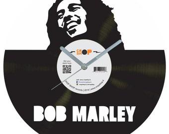 Bob Marley vinyl clock