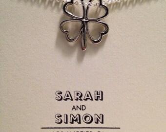 Lucky Four Leaf Clover Necklace Charm