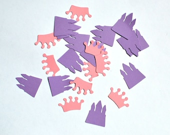 Princess Confetti - Pink and Purple Confetti - Crown Confetti - Castle Confetti - Pink Confetti - Purple Confetti - Princess Party