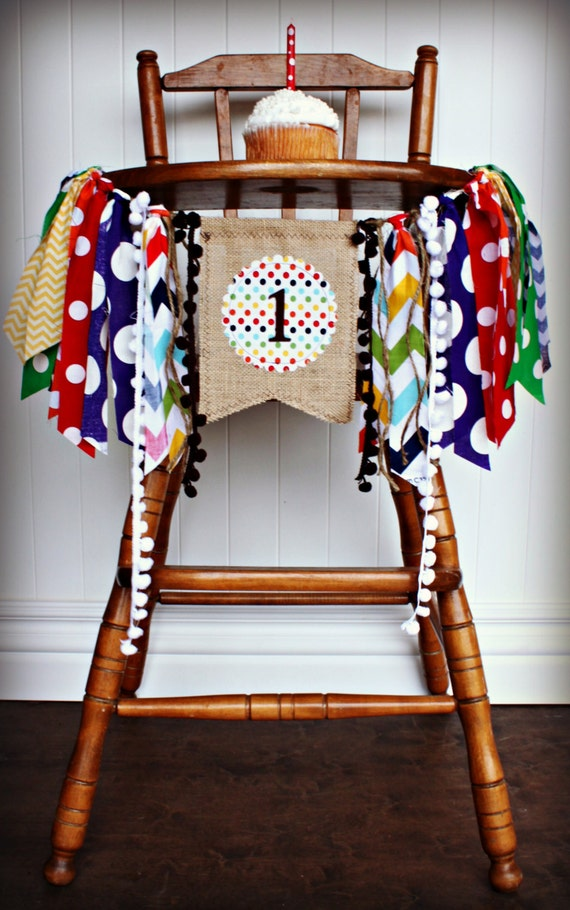 Brown Bear Birthday High Chair Highchair Banner Party Photo