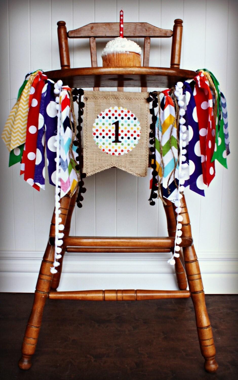 BROWN BEAR Birthday High Chair Highchair Banner Party Photo