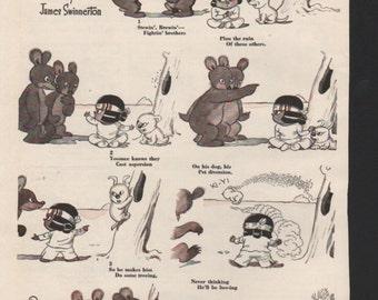 """Original Good Housekeeping cartoon """"Yoomee"""" by James Swinnerton 1930s, 8x11 in. - Kids222"""
