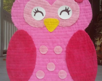 Owl Baby Girl First Birthday Party Pinata