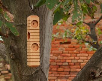 Bird suet feeder Log