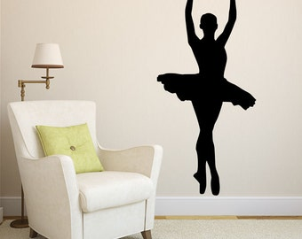 Ballerina Wall Art Decal Sticker Decor Dance Gifts Ballerina Gifts Ballerina Wall Sticker Ballerina Decor Ballet Gifts for Ballerina Decal
