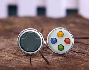 Video Game Controller Cufflinks & Tie Tacks, Gamer Cufflinks, Custom Personalized Cuff Links, Controller Cufflinks, Gamepad Keys Cufflinks