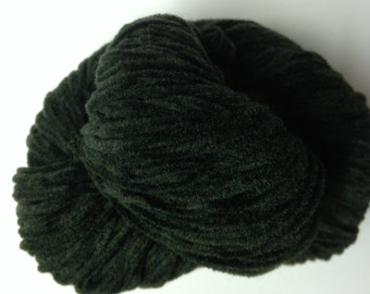 Knit One Crochet Too Velvety Chenille merino wool blend soft worsted weight yarn (592 Spruce Green)