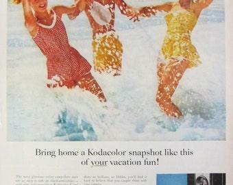 1957 Kodak Kodacolor Snapshot Camera Vintage Advertisement Photographer Wall Art Photography Studio Decor Original Magazine Print Ad