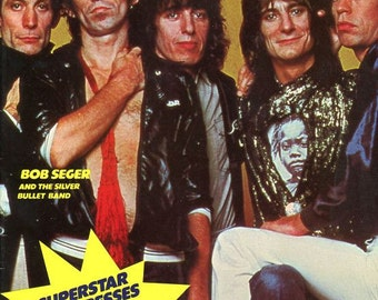 Magazine  Grooves  The Stones  1979   Half the magazine is about the Rolling Stones  details on every member ...plus other bands musicians