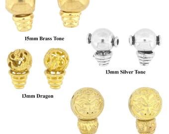 Set of Two Guru Beads, Brass Alloy Guru Beads for Prayer Beads Making, Several Designs