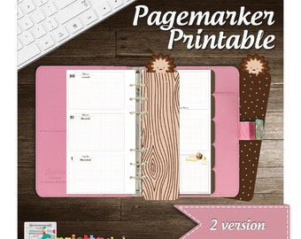 Pagemarker filofax curly - printable - Personal size